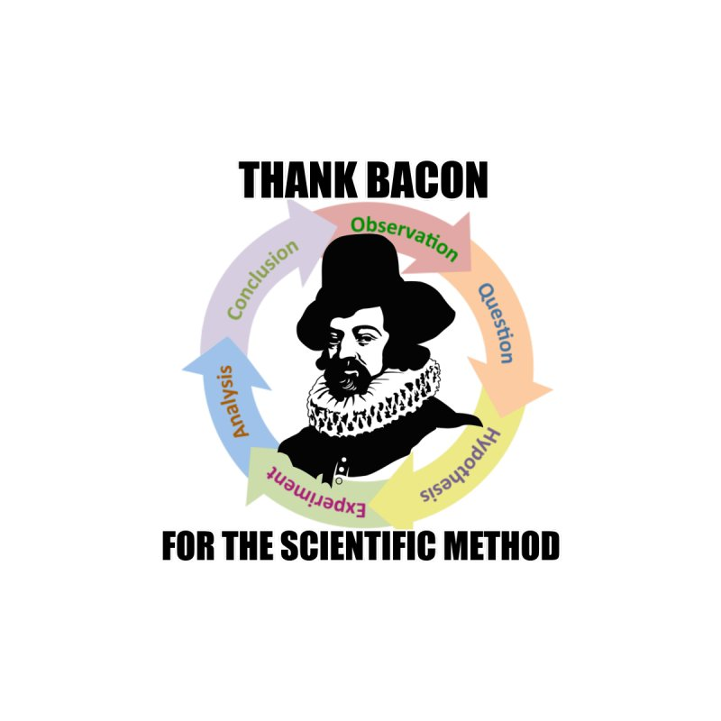 Thank Bacon for the Scientific Method by Bagayogo Tees