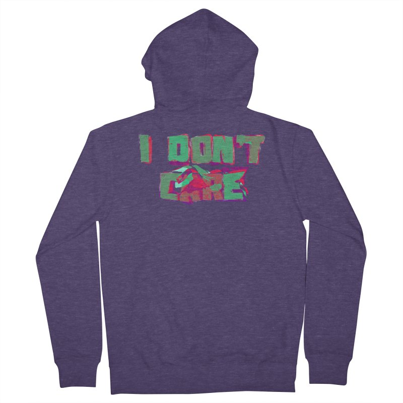 I Don't Care Men's Zip-Up Hoody by Bagimation
