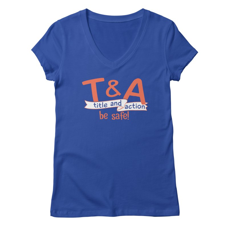 Title and Action Women's V-Neck by Bagimation