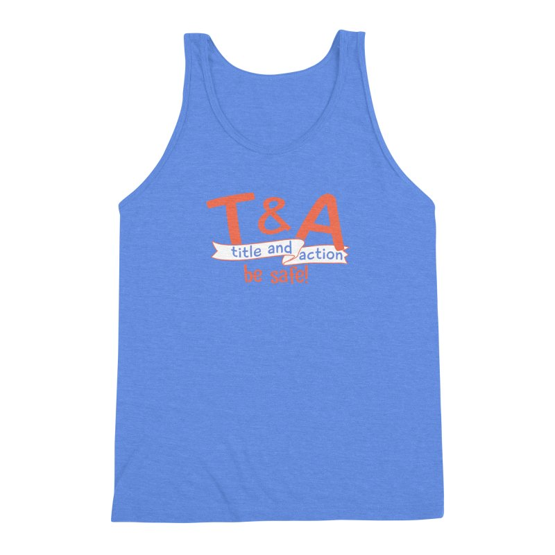 Title and Action Men's Triblend Tank by Bagimation
