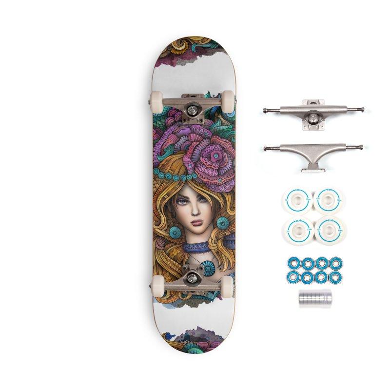 VIRGO Zodiac Ethnic Girl Accessories Skateboard by Balabolka's Shop
