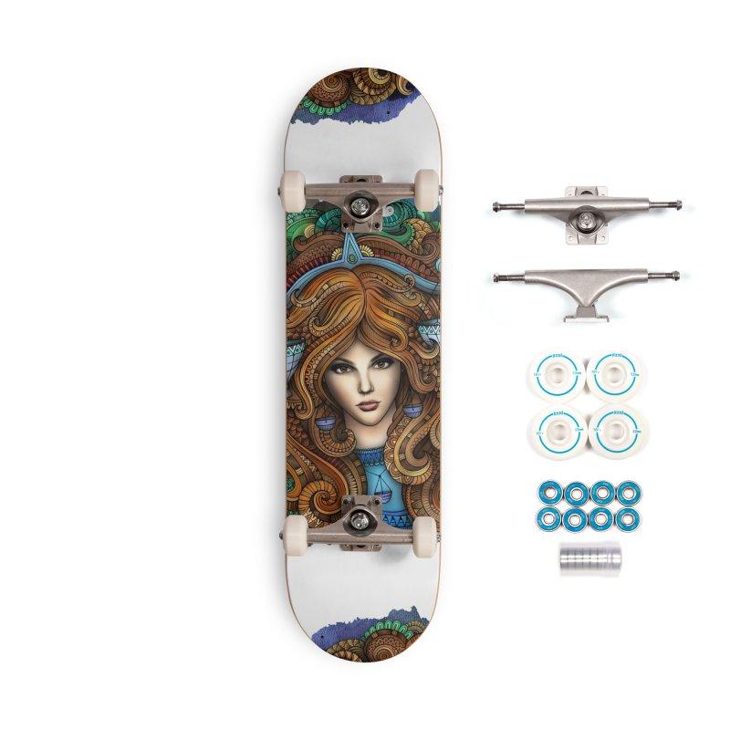 LIBRA Zodiac Ethnic Girl Accessories Skateboard by Balabolka's Shop