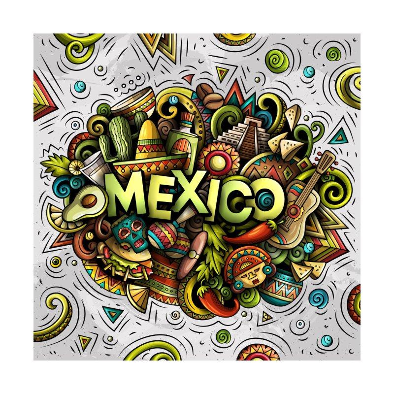 MEXICO Cartoon Illustration Accessories Skateboard by Balabolka's Shop