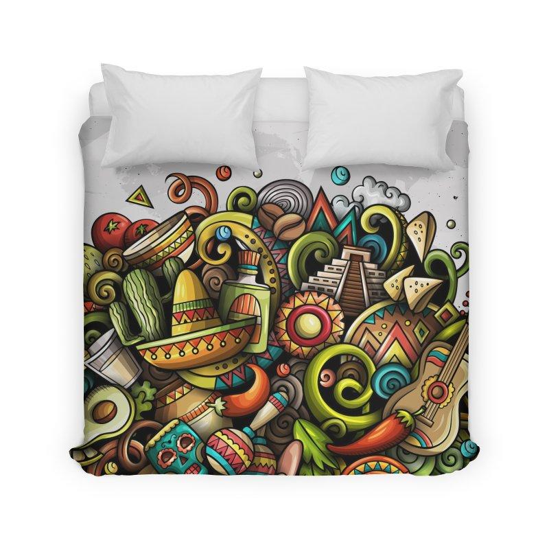 Cartoon MEXICO Design Home Duvet by Balabolka's Shop