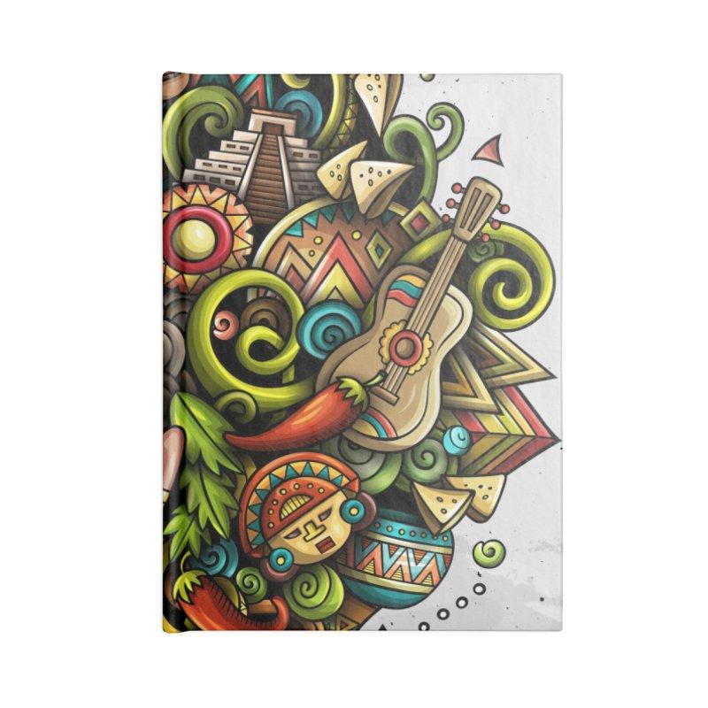 Cartoon MEXICO Design Accessories Notebook by Balabolka's Shop