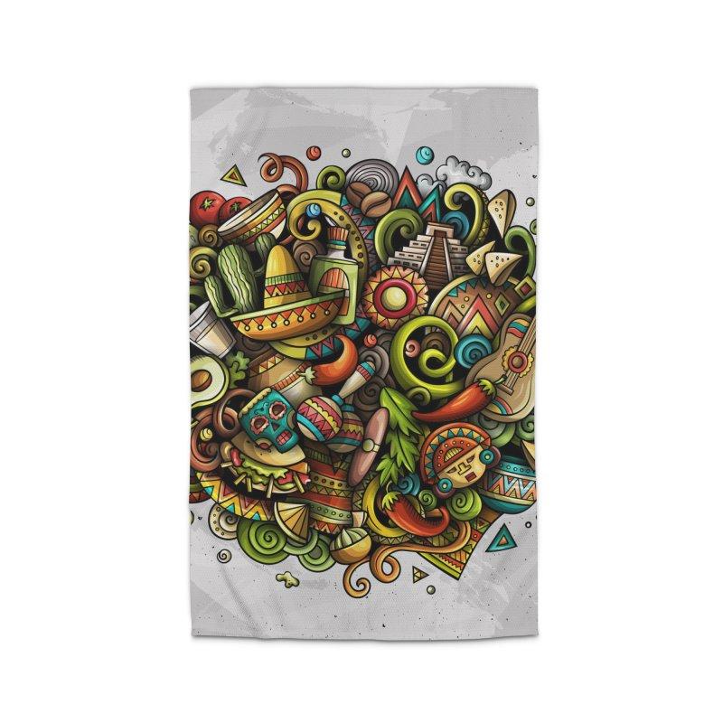 Cartoon MEXICO Design Home Rug by Balabolka's Shop