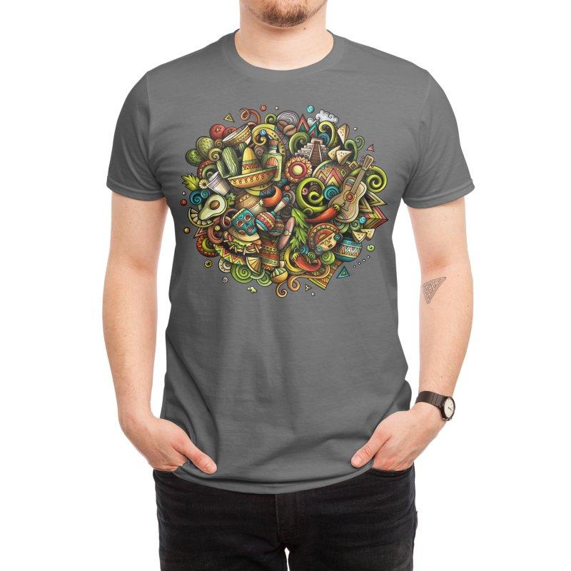 Cartoon MEXICO Design Men's T-Shirt by Balabolka's Shop