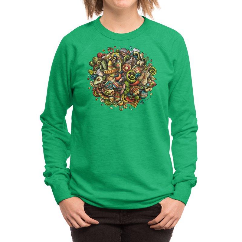 Cartoon MEXICO Design Women's Sweatshirt by Balabolka's Shop
