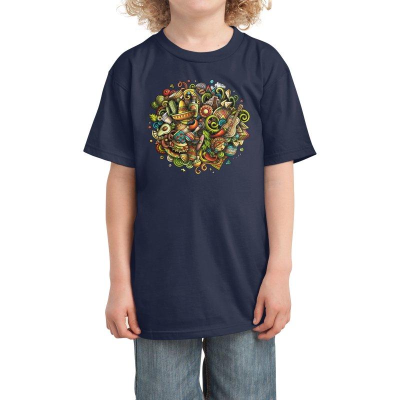 Cartoon MEXICO Design Kids T-Shirt by Balabolka's Shop