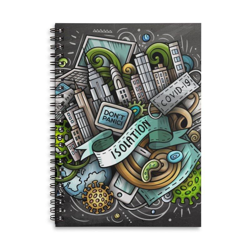 SELF-ISOLATION Cartoon Illustration Accessories Notebook by Balabolka's Shop