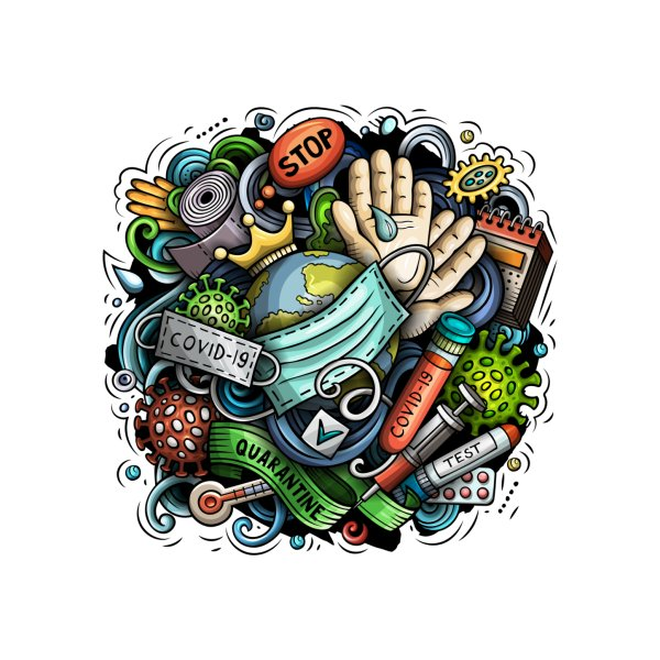 image for Quarantine Cartoon Illustration