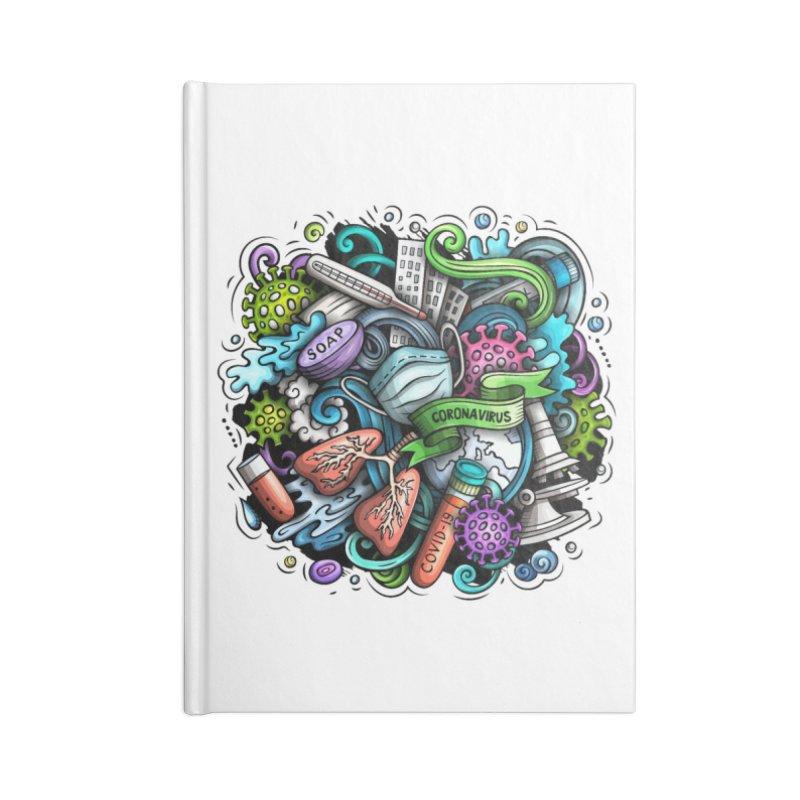 Coronavirus Cartoon Illustration Accessories Notebook by Balabolka's Shop
