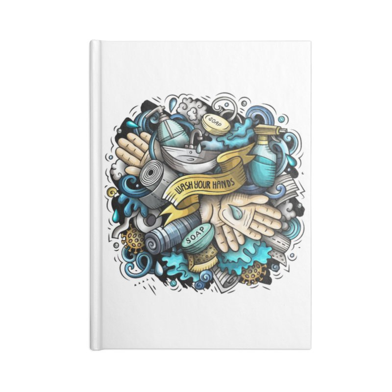 Wash Your Hands Accessories Notebook by Balabolka's Shop
