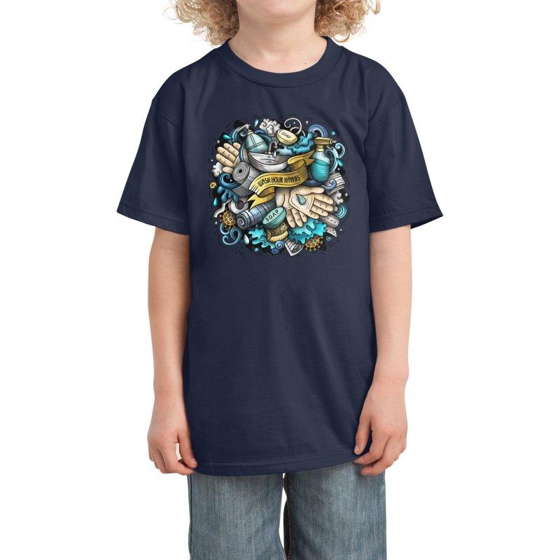 Wash Your Hands Kids T-Shirt by Balabolka's Shop