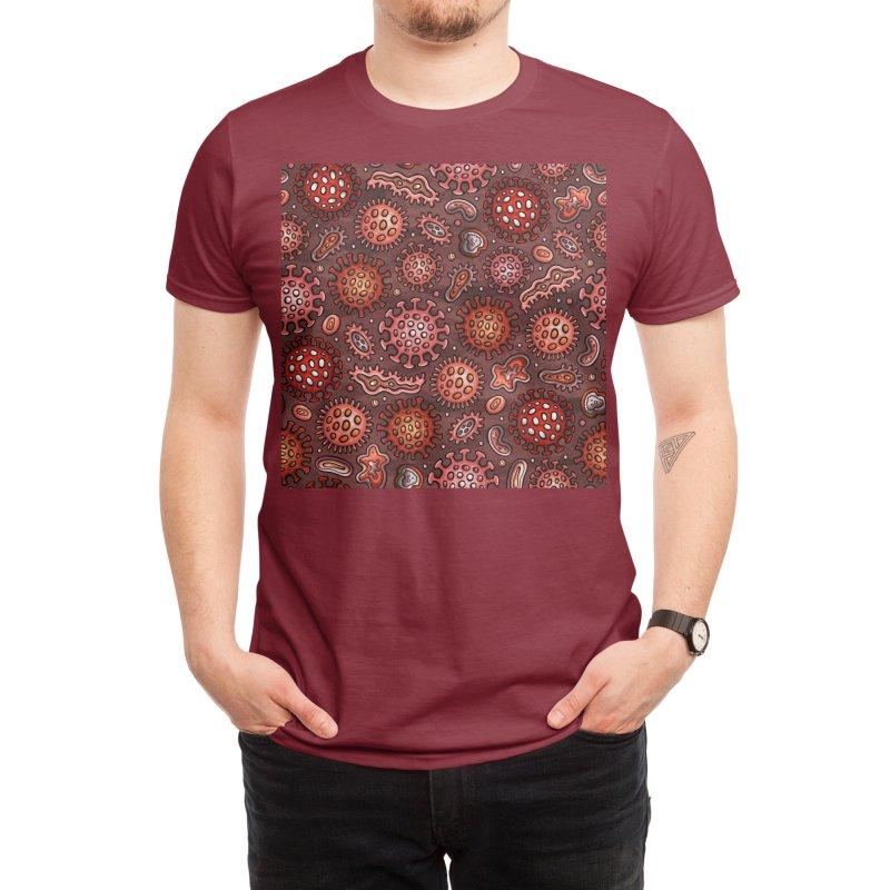 Coronavirus pattern Men's T-Shirt by Balabolka's Shop