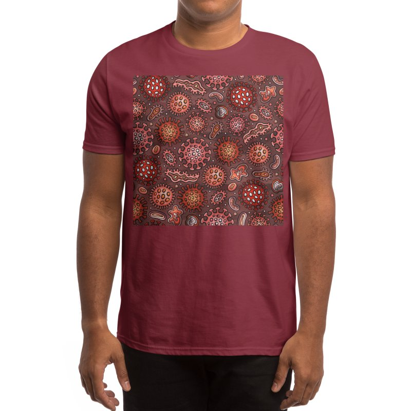 Coronavirus pattern Men's T-Shirt by Balabolka's Shop