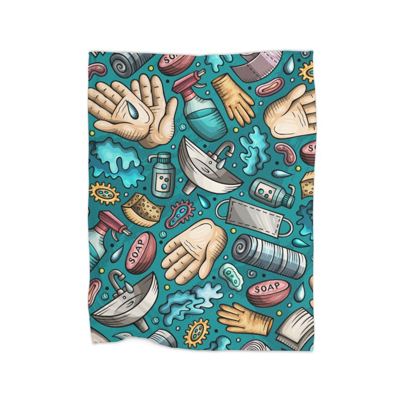 Wash your hands Home Blanket by Balabolka's Shop