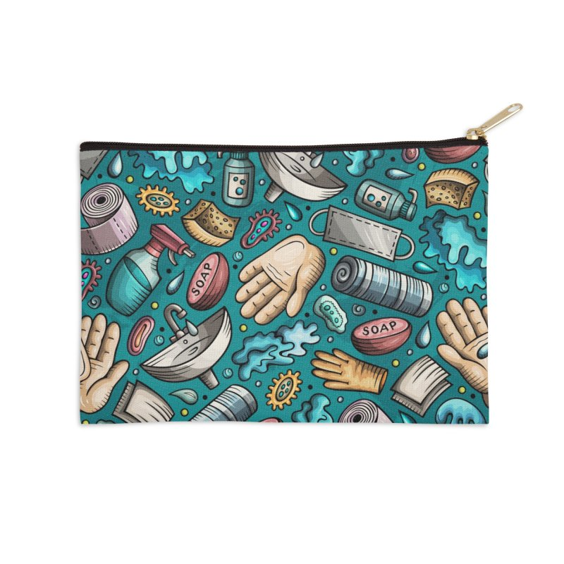 Wash your hands Accessories Zip Pouch by Balabolka's Shop