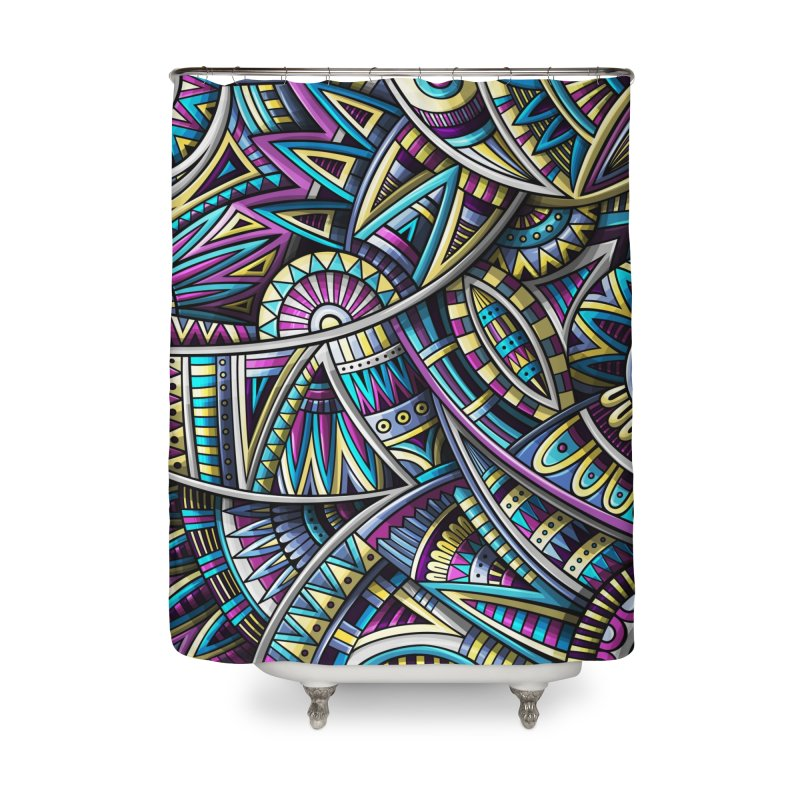 Ethnic fantasy pattern Home Shower Curtain by Balabolka's Shop