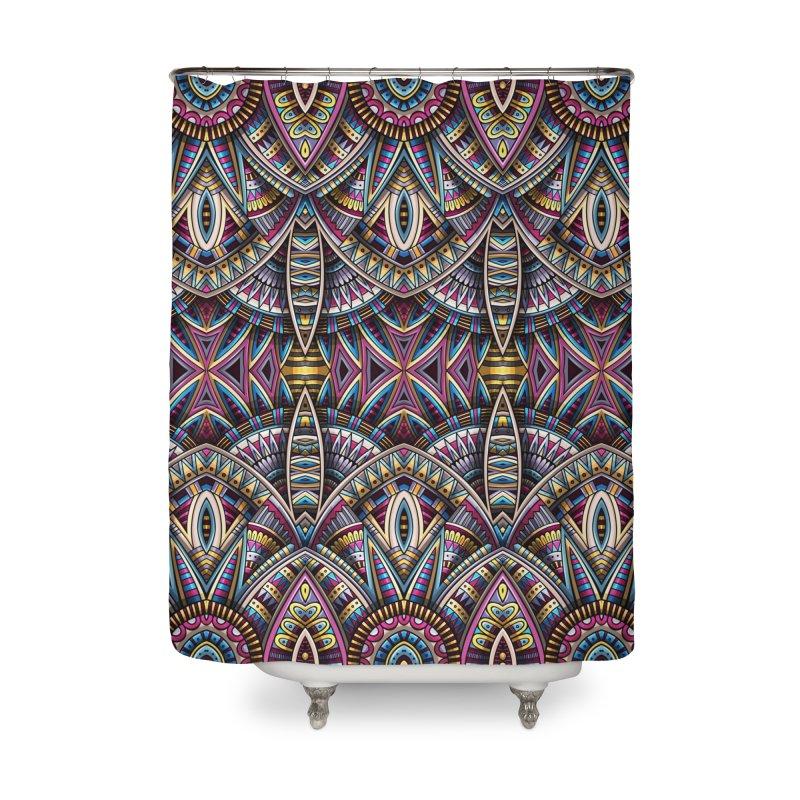 Ethnic fantasy carpet Home Shower Curtain by Balabolka's Shop