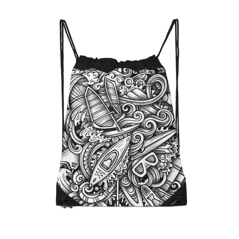 Water Sports Doodle Accessories Bag by Balabolka's Shop