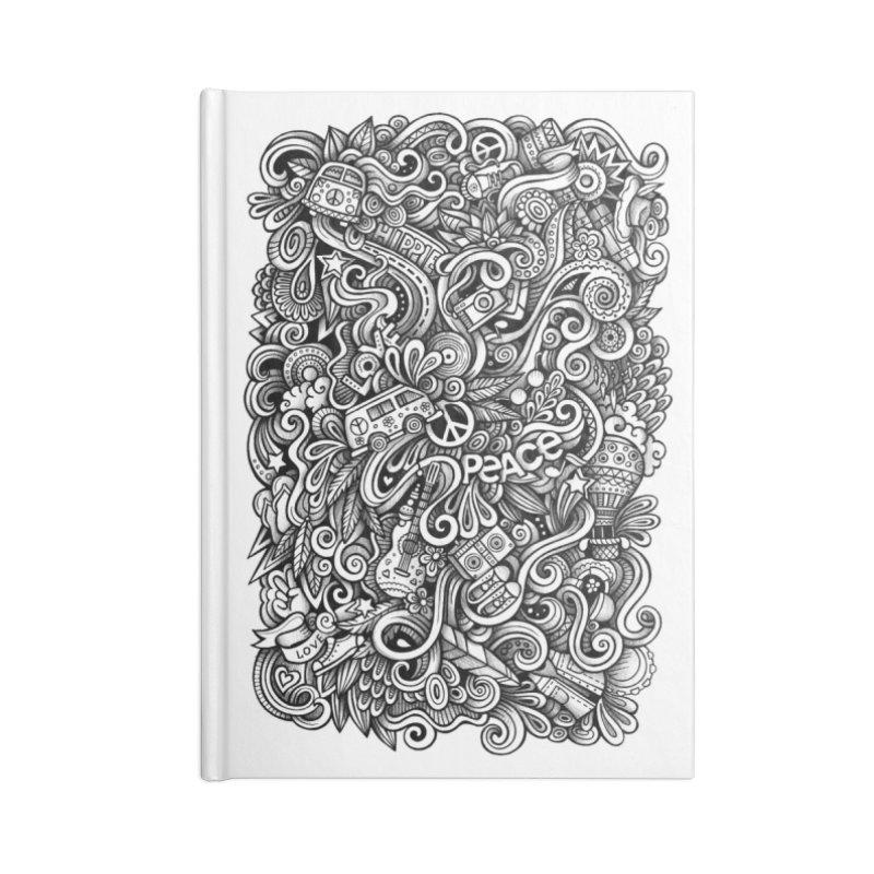Hippie Doodle Accessories Notebook by Balabolka's Shop