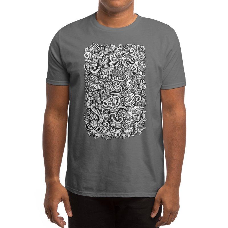 Africa Doodle Men's T-Shirt by Balabolka's Shop