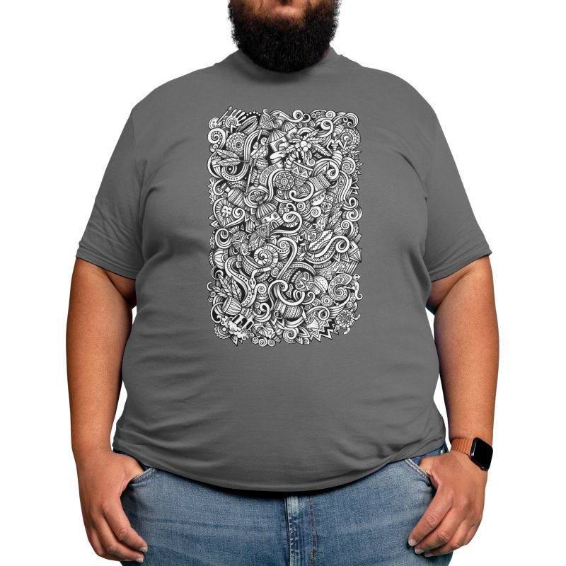 Africa Graphics Doodle Men's T-Shirt by Balabolka's Shop