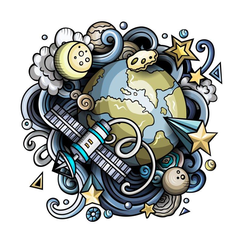 Space Cartoon Men's T-Shirt by Balabolka's Shop