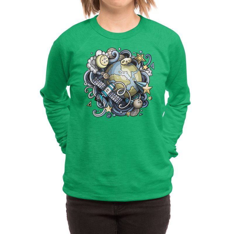 Space Cartoon Women's Sweatshirt by Balabolka's Shop