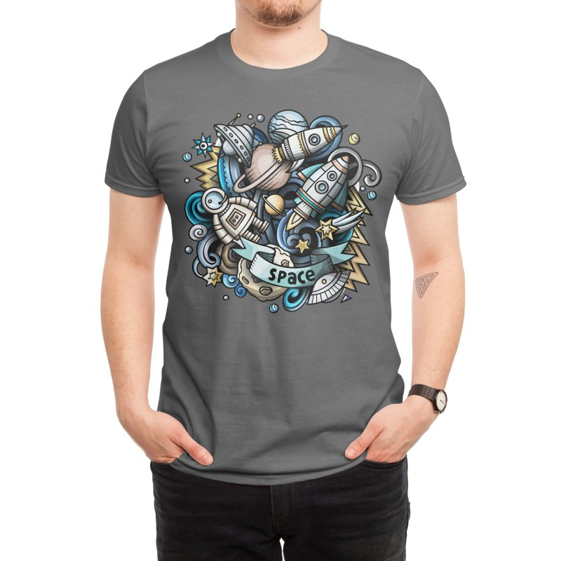 Space Cartoon Men's T-Shirt by Balabolka's Shop