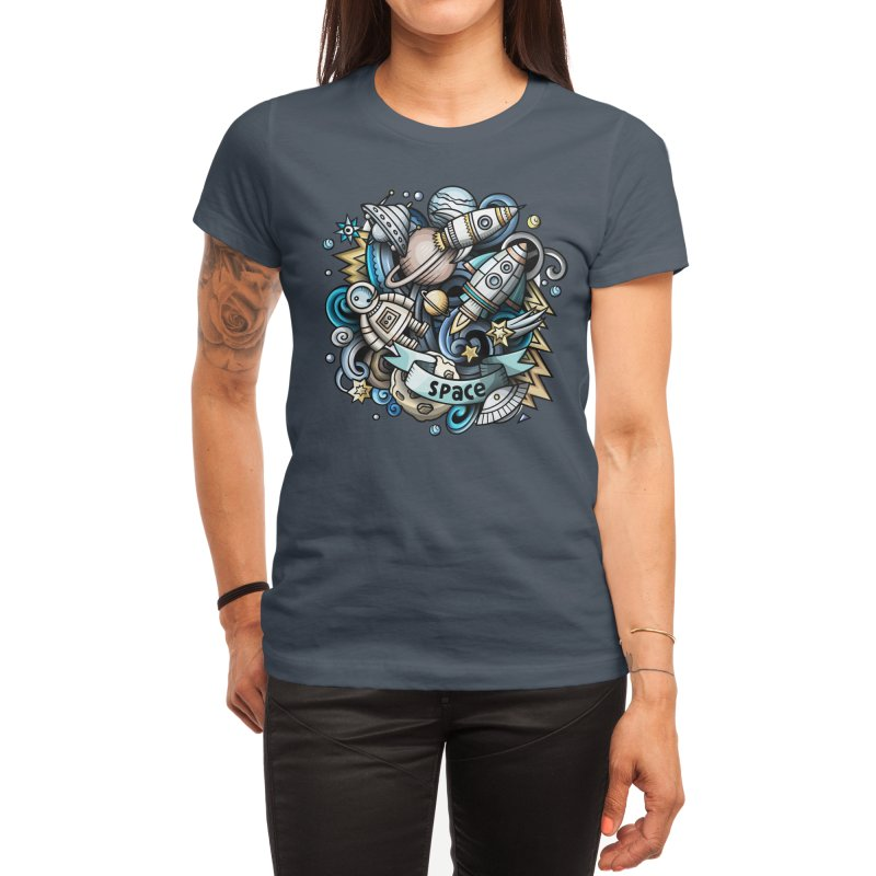 Space Cartoon Women's T-Shirt by Balabolka's Shop