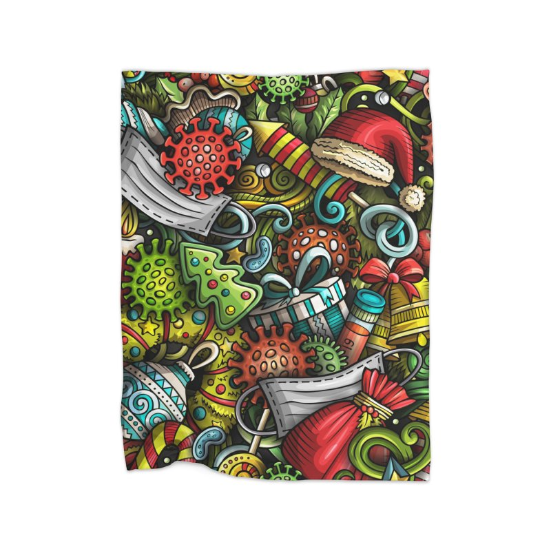Happy New Year and COVID Home Blanket by Balabolka's Shop
