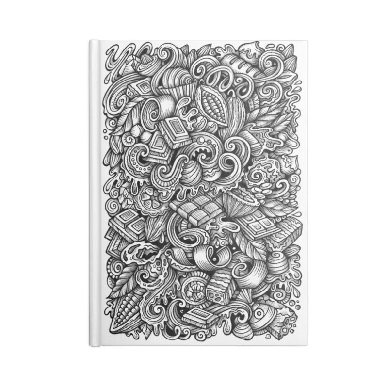Chocolate graphics doodle Accessories Notebook by Balabolka's Shop