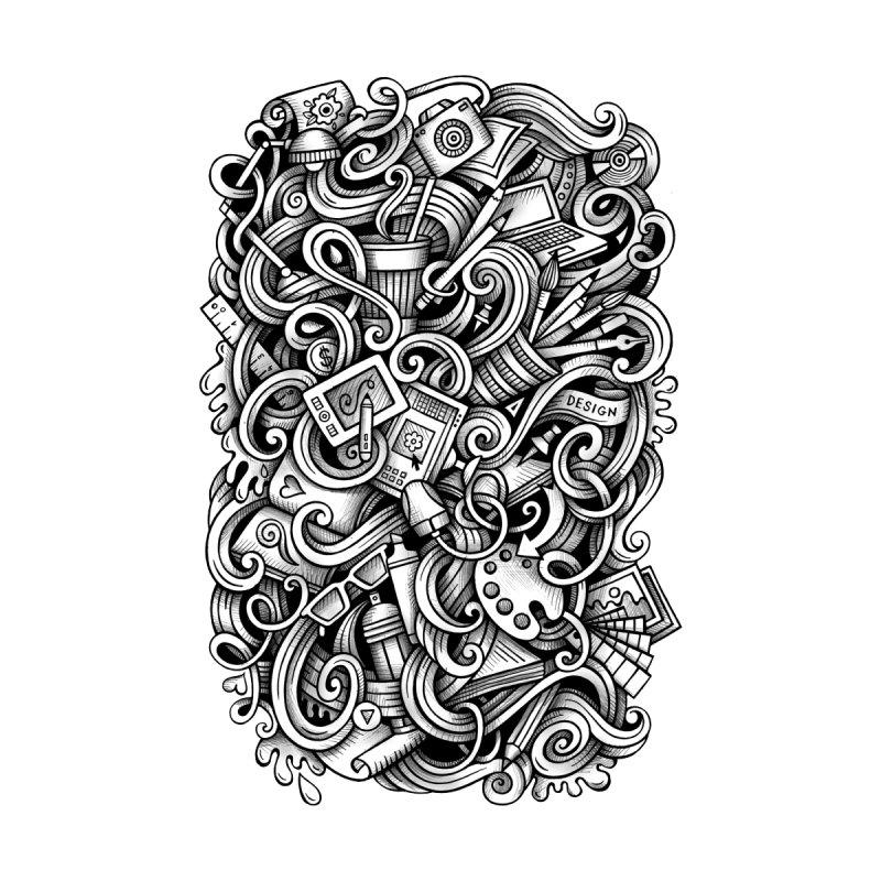 Art and Design graphics doodle Home Duvet by Balabolka's Shop