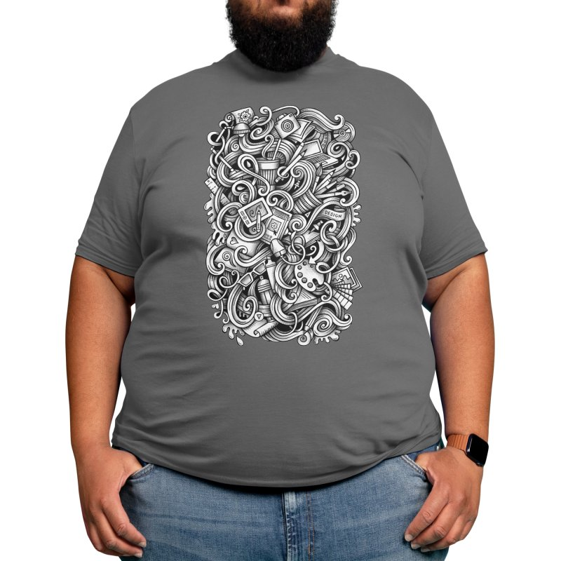 Art and Design graphics doodle Men's T-Shirt by Balabolka's Shop