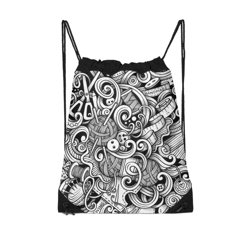 Handmade graphics doodle Accessories Bag by Balabolka's Shop