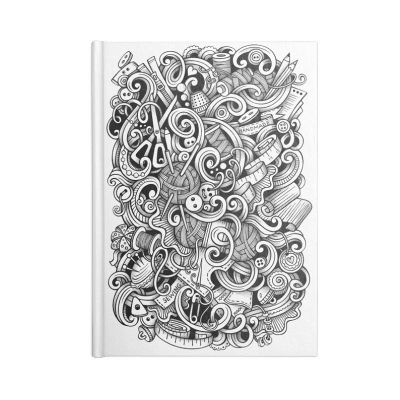 Handmade graphics doodle Accessories Notebook by Balabolka's Shop