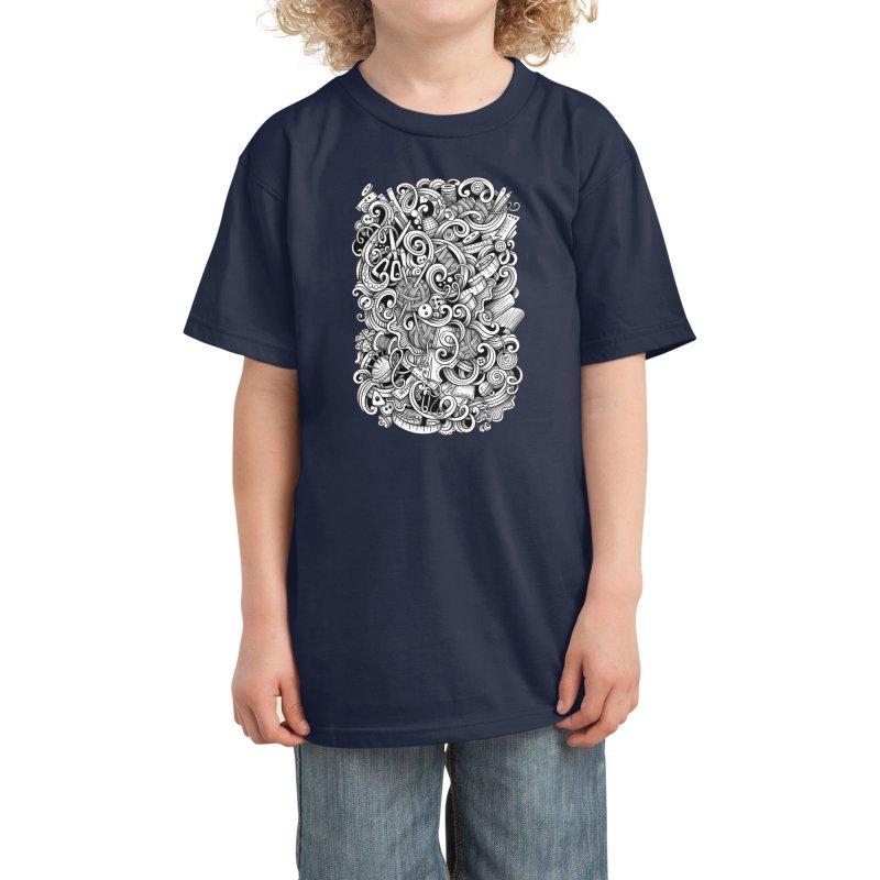 Handmade graphics doodle Kids T-Shirt by Balabolka's Shop