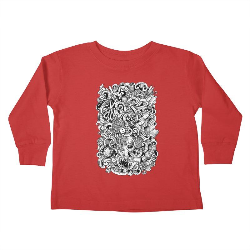 Handmade graphics doodle Kids Toddler Longsleeve T-Shirt by Balabolka's Shop