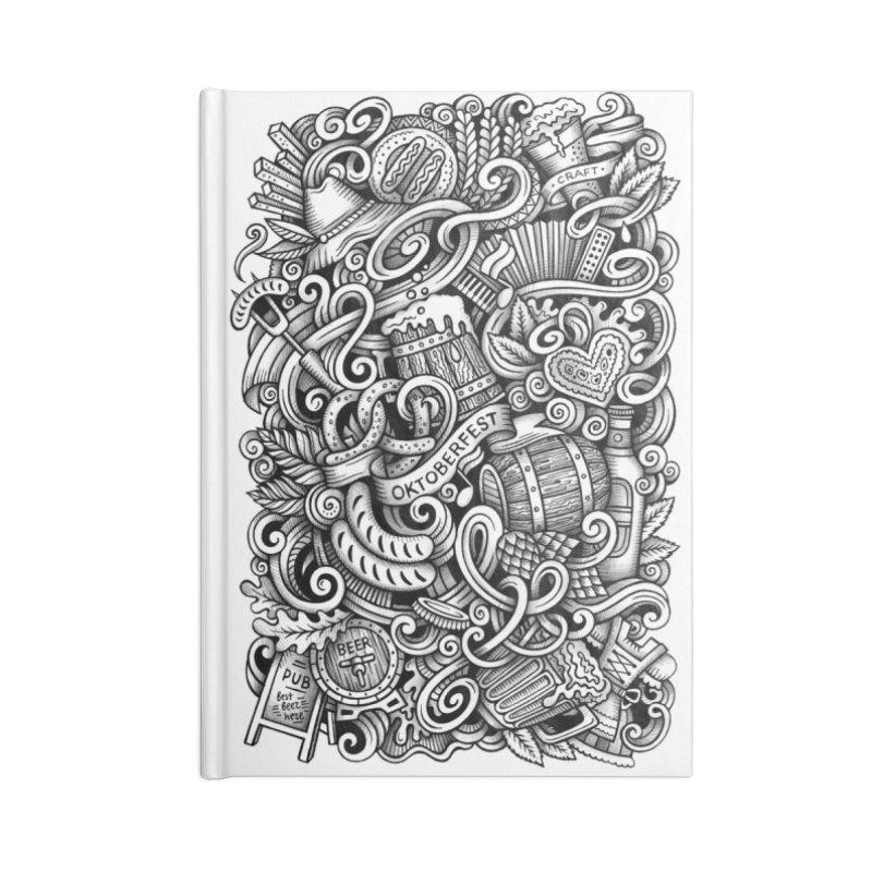 Oktoberfest graphics doodle Accessories Notebook by Balabolka's Shop