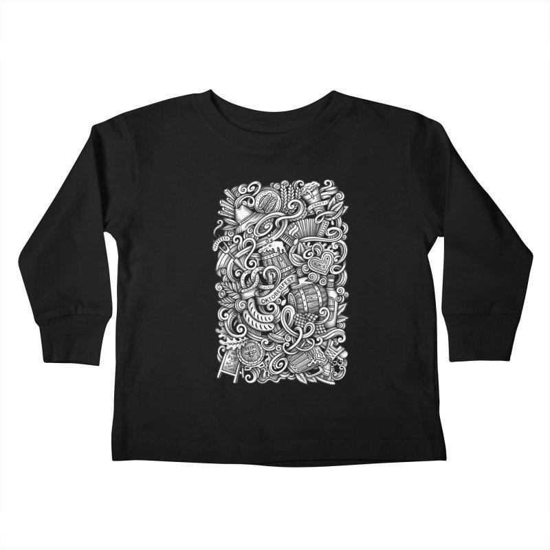 Oktoberfest graphics doodle Kids Toddler Longsleeve T-Shirt by Balabolka's Shop