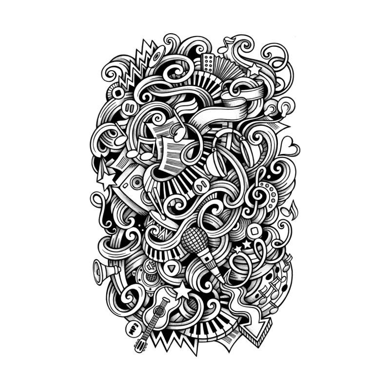 Music graphics doodle Home Duvet by Balabolka's Shop