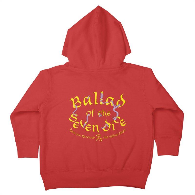 Ballad Tentacle Shirt Kids Toddler Zip-Up Hoody by Ballad of the Seven Dice's Artist Shop