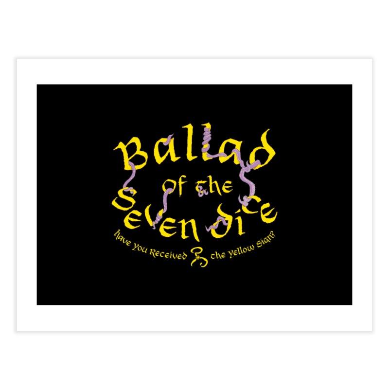 Ballad Tentacle Shirt Home Fine Art Print by Ballad of the Seven Dice's Artist Shop