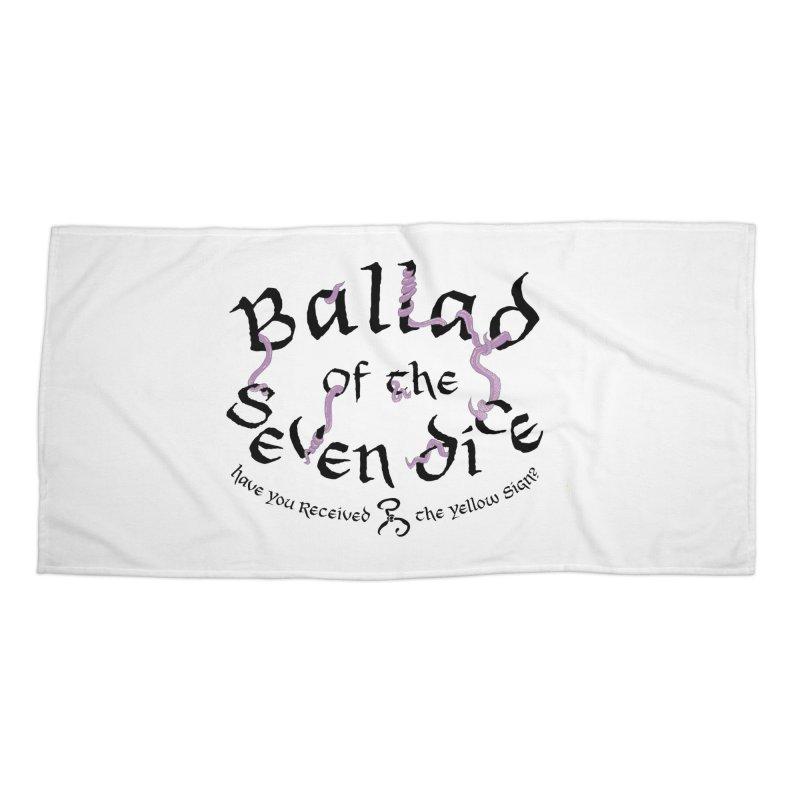 Ballad Tentacle Shirt (Dark) Accessories Beach Towel by Ballad of the Seven Dice's Artist Shop