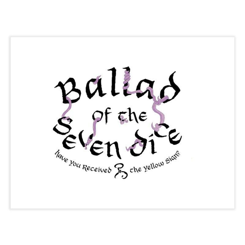 Ballad Tentacle Shirt (Dark) Home Fine Art Print by Ballad of the Seven Dice's Artist Shop