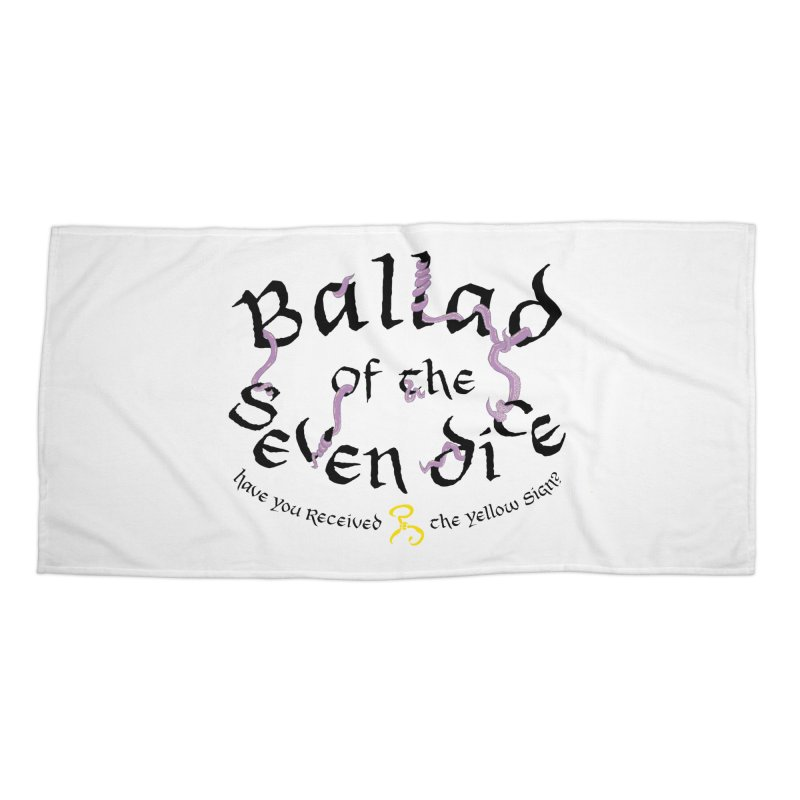 Ballad Tentacle Shirt - Dark Alternate Accessories Beach Towel by Ballad of the Seven Dice's Artist Shop