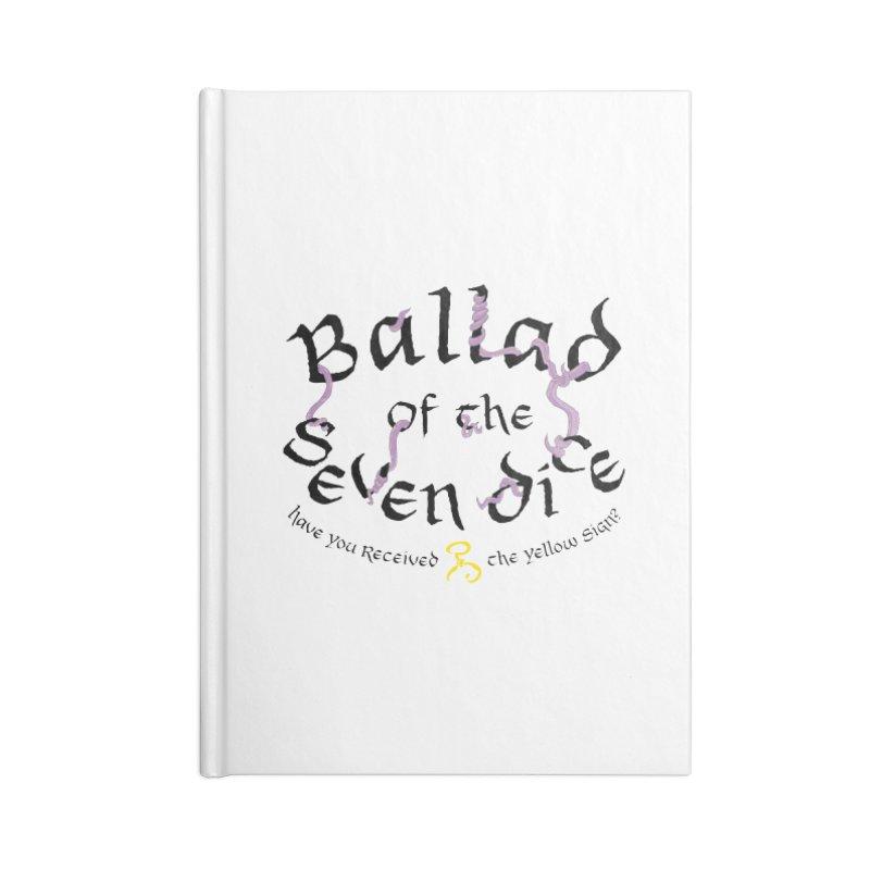 Ballad Tentacle Shirt - Dark Alternate Accessories Notebook by Ballad of the Seven Dice's Artist Shop