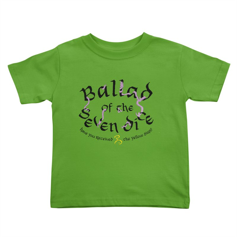 Ballad Tentacle Shirt - Dark Alternate Kids Toddler T-Shirt by Ballad of the Seven Dice's Artist Shop